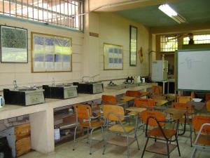 El aula en la Sección de Metalurgia, Edificio CB